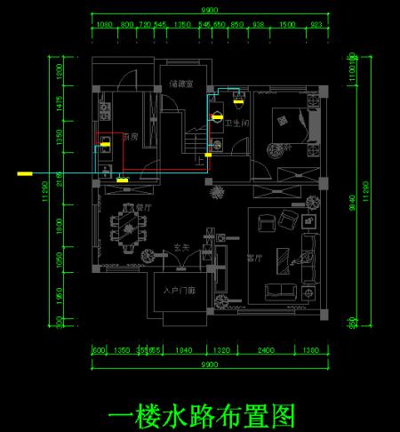 谁能给我一套室内改水改电cad图和施工图