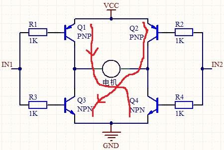 h桥电路控制电机正反转能用差分分电路代替吗?