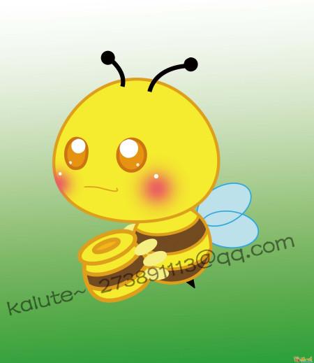 蜜蜂采蜜的简笔画图片