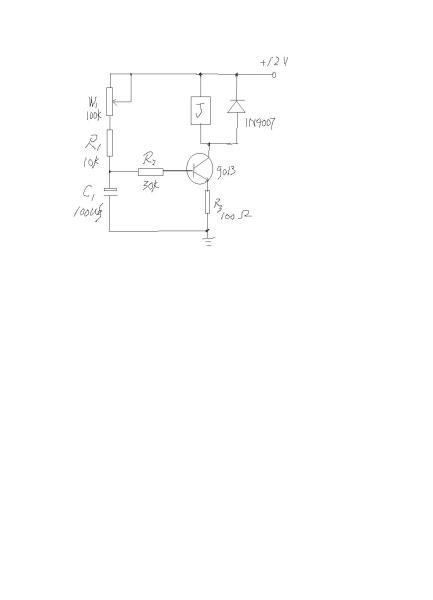 用一只三极管能做延时吸合继电器电路,直流供电12v