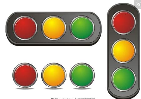 红绿灯三种颜色横向怎么排列?