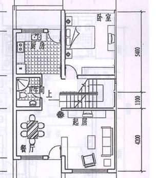 4米x13米房子设计图