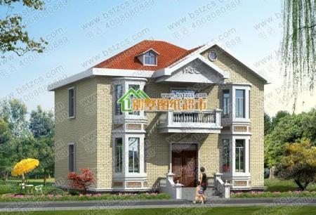 农 欧式二层小别墅设计_农村两层别墅120平240平二层别墅分类:二层
