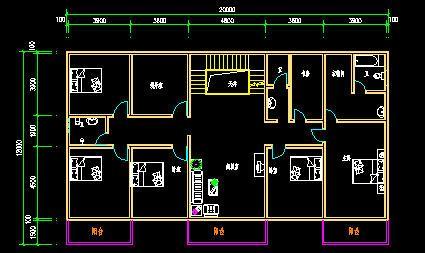 求设计一个房屋设计图七室一厅一房两卫图片