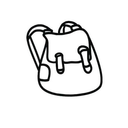 最简单的书包的简笔画