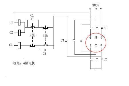 6根线三角形/双星形怎么接双速电机 系统