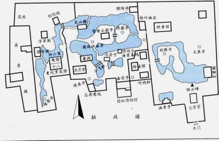 请问有拙政园的平面图吗?
