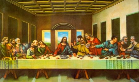 最后的晚餐高清图片并标出图中人物