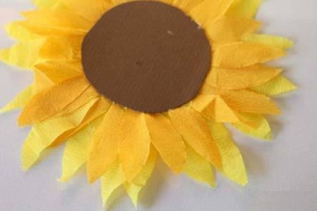 海绵纸手工制作向日葵图片步骤