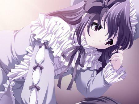 求紫发紫瞳的动漫少女