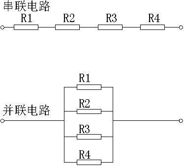 并联电路的总电流等于每个电阻上的电流相加的总和.
