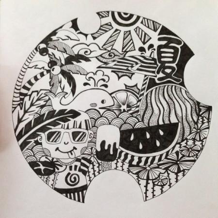 用于校考,设计的黑白装饰画常用边缘花纹,越多越好.用于参考.