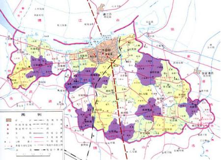 求最新的江阴行政地图