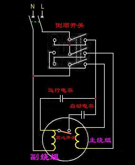 单相电机倒顺开关正反转图如何与电路图相对应接,倒顺