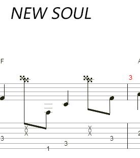 new soul吉他谱图片