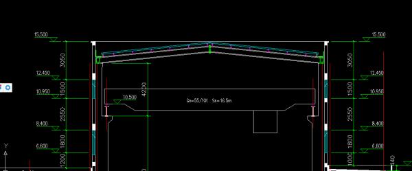 图纸的檐口计算sda高度caxa气缸图片