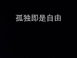 求一张图片 内容就是字 孤独即是自由 黑色背景 字是白色的