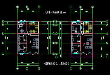 求宽6米8,长14米,3层套房平面设计图,1层1个卧室,1个厨房1餐厅1客厅1