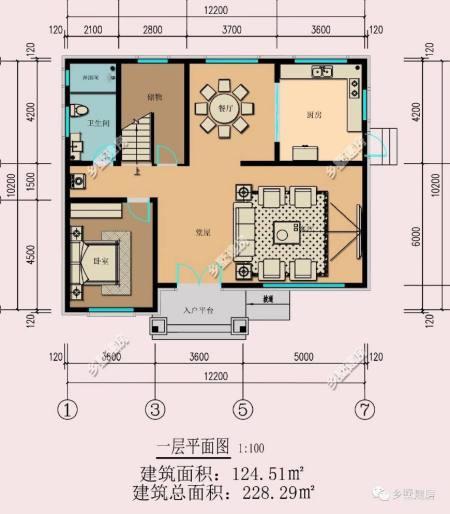 农村自建房别墅长12米,宽10米,怎样设计才好看?图片
