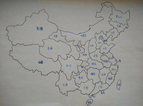 中国地图怎么画,简单_儿童简易地图怎么画