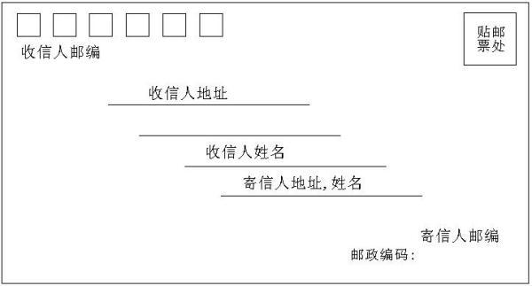 信封封面怎么写格式的 正确的信封格式怎么写信封图片