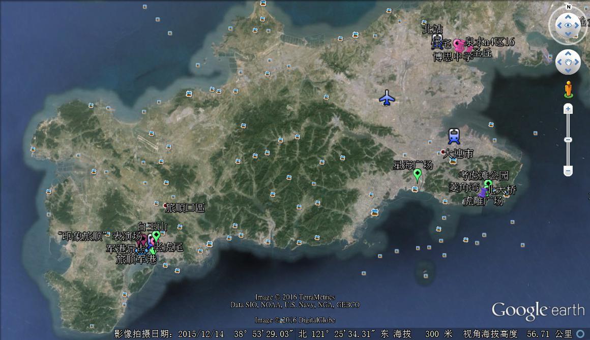 最新大连市市区地图