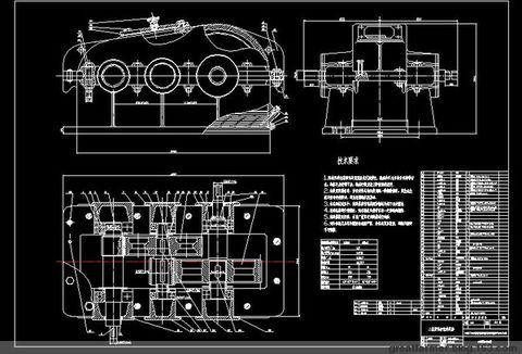 二级减速器箱体cad_谁有二级圆柱齿轮减速器的CAD图纸,发我邮箱,chenbin1924@163.com ...