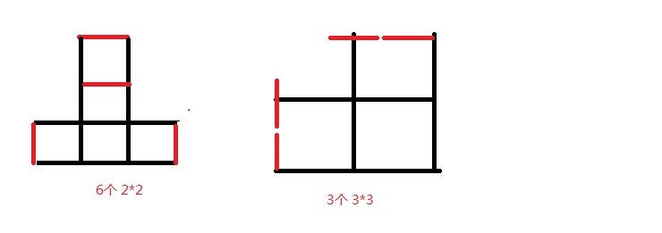 田子变六个正方形