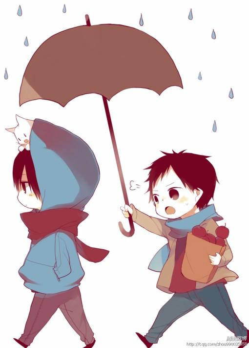 男女吵架下雨的图片_求男孩为生气的女孩子撑伞的图片的大图_百度知道