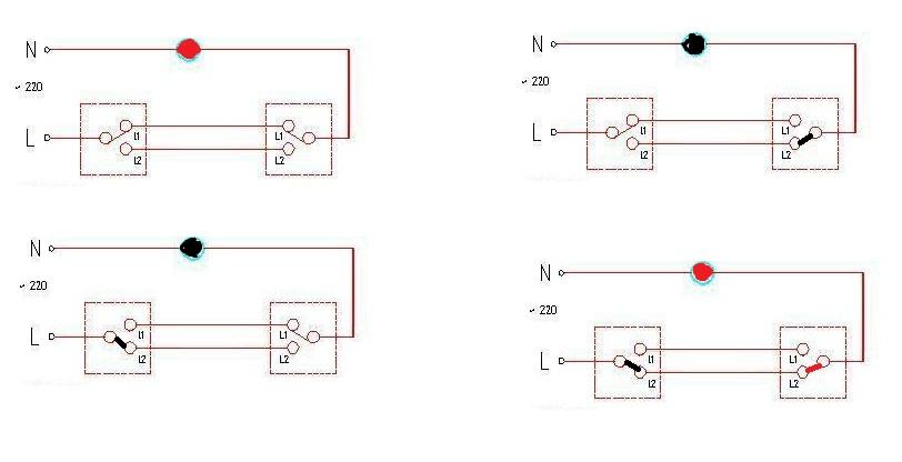双联开关接线图_带插座的双控电路图,开关插座是怎么接的!_百度知道