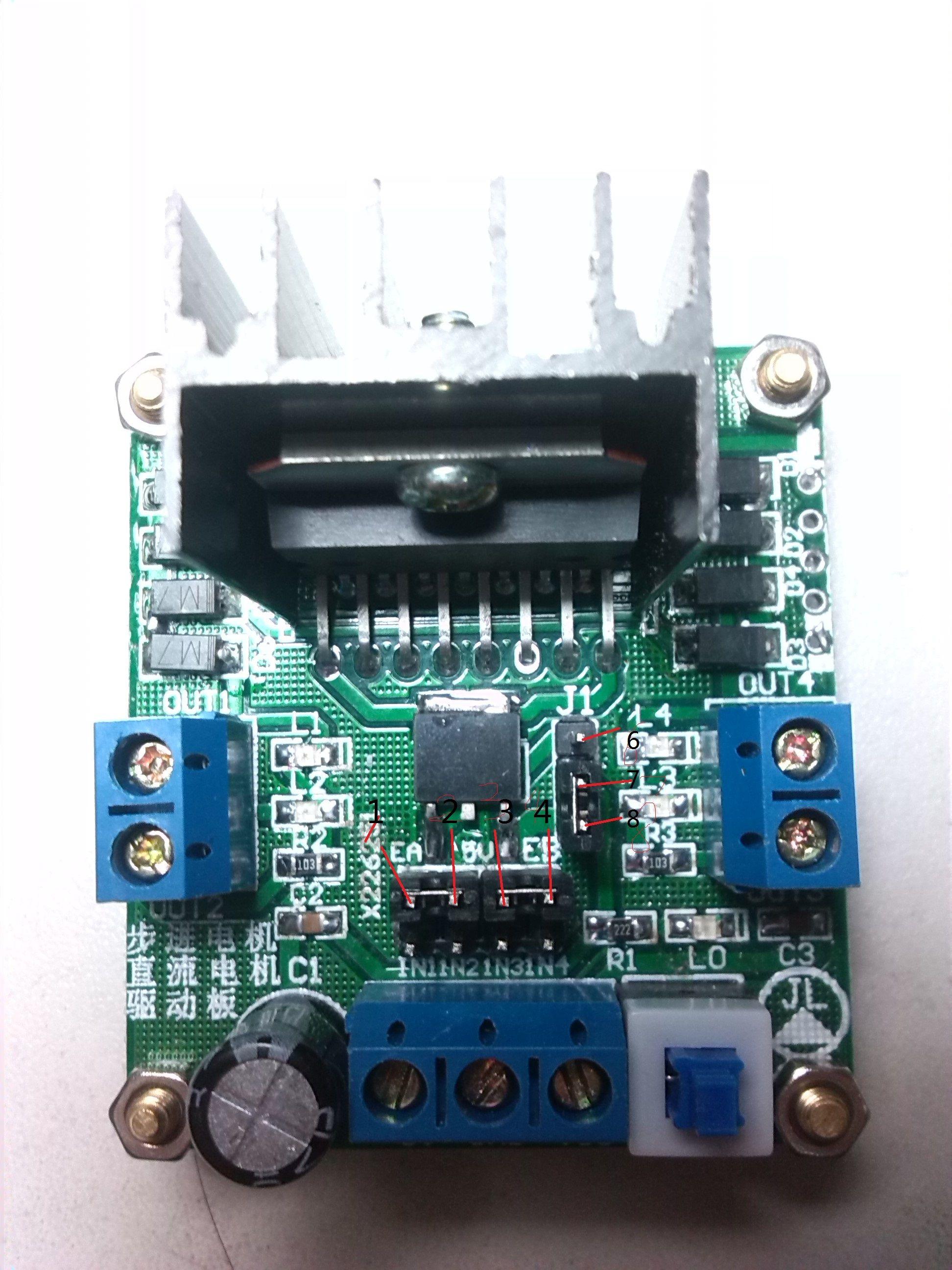 51单片机电机_新人关于51单片机电机驱动L289n的接口解答_百度知道