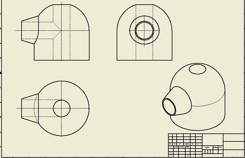 圆台和圆柱相贯