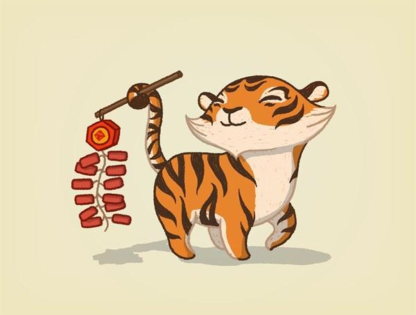 屬虎的微信頭像吉祥圖