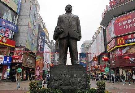 长沙黄兴路步行街_长沙黄兴铜像在步行街哪个地方_百度知道