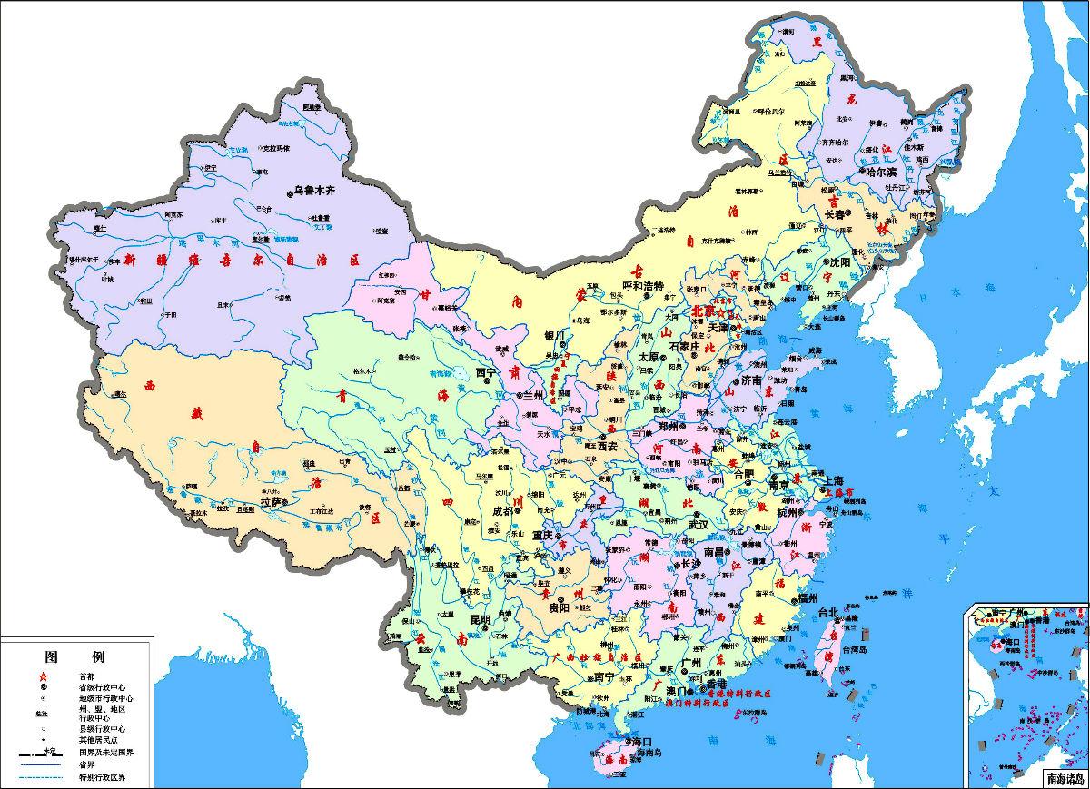 安徽地图全图高清版画