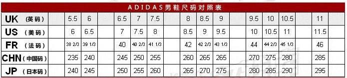 耐克乔丹女鞋尺码表_李宁43码篮球鞋对应adidas的篮球鞋码数是多少_百度知道