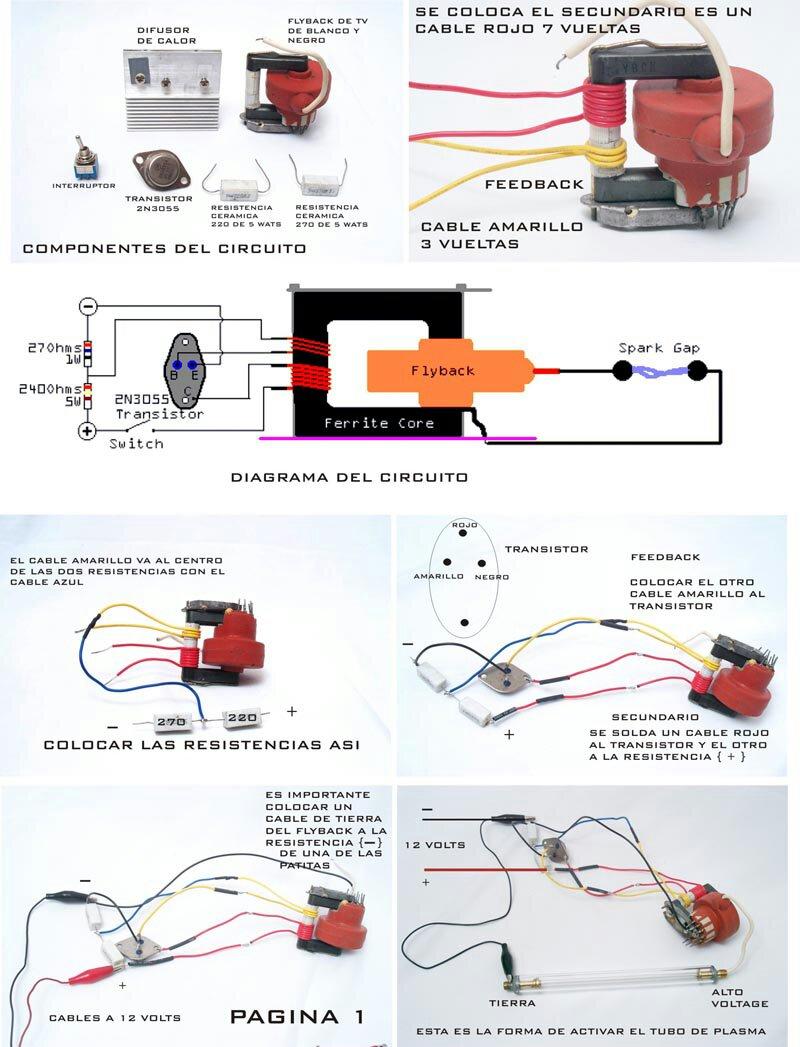 电弧打火机电路图_高压包引脚,内部线圈图如何做升压电路(拉电孤)_百度知道