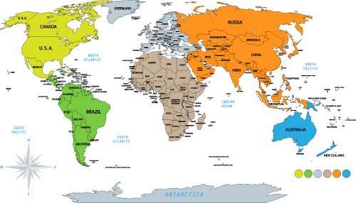 世界地理地图的目录