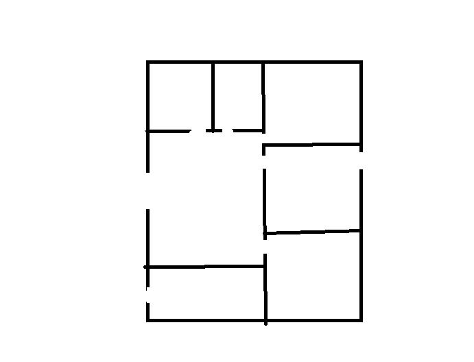 農村3間平房設計圖圖片