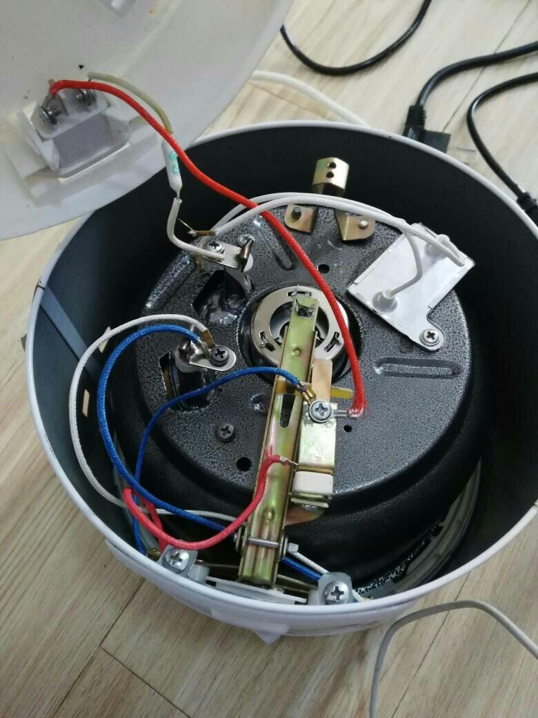 电热锅接线_电饭煲内部结构图片。这个是半球牌的,怎么接线,我打开了上 ...