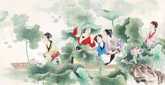 采莲曲王昌龄图片