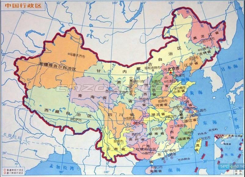 中国地图简图我需要一张中国行政地图简图,只要标注省市就可以,其他的