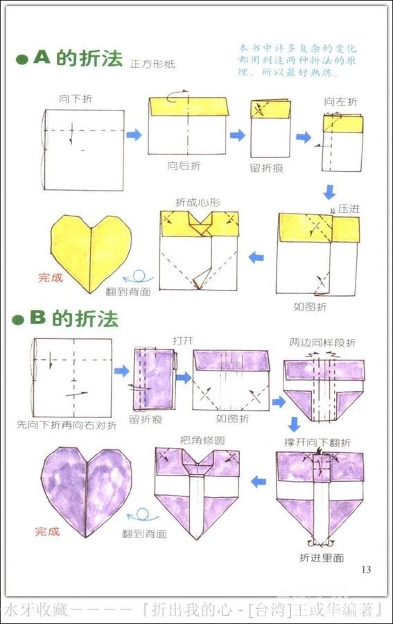 爱心折纸步骤_怎么用纸折爱心_百度知道