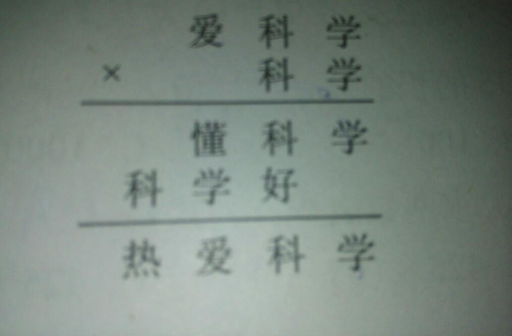 数字表示汉字_在下面乘法算式中,相同的汉字代表相同的数字,不同的汉字 ...