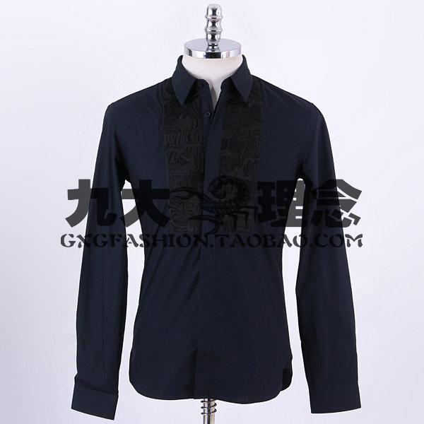 藏青色的西藏配什么领带_全套黑色西服 藏青色衬衫 棕色皮鞋~这样配什么样的领带或领结 ...