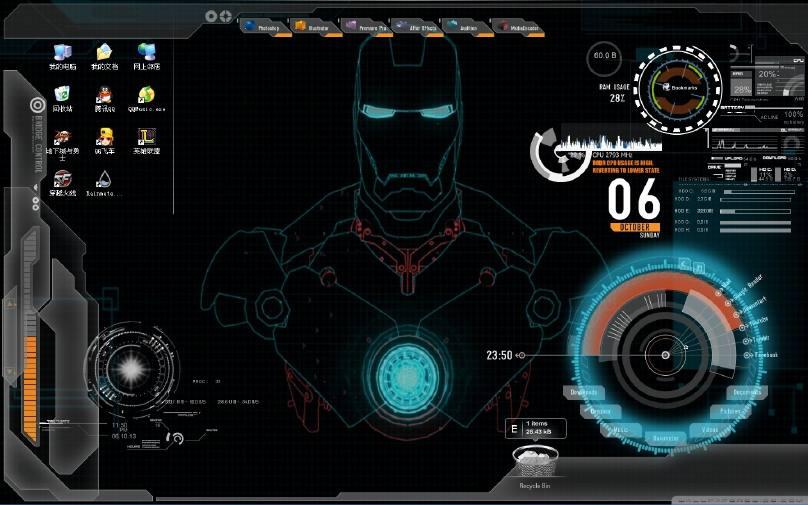 钢铁侠xp主题_求钢铁侠桌面主题XP,跟下面类似的也可以_百度知道
