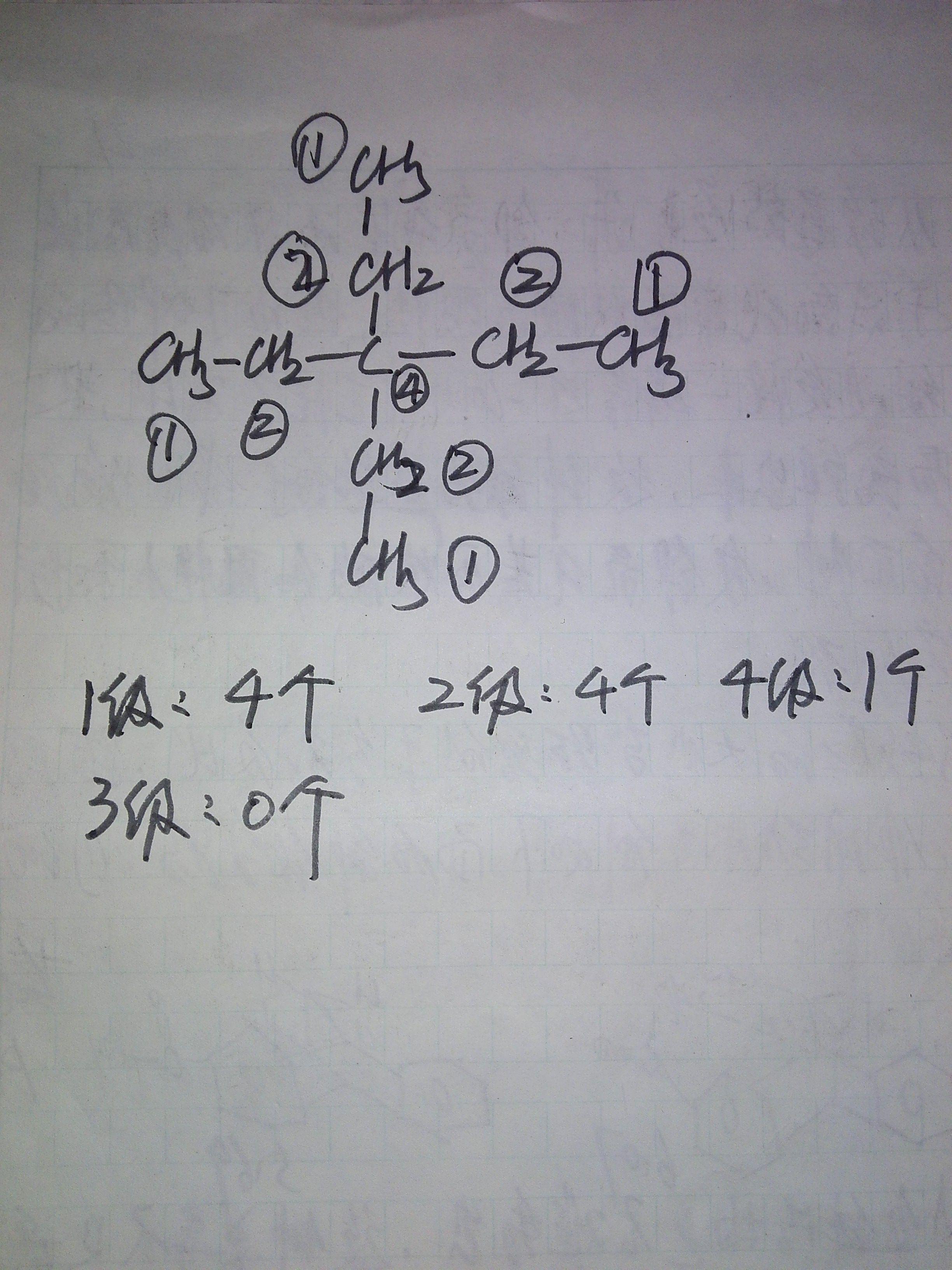 碳原子的级数是什么意思