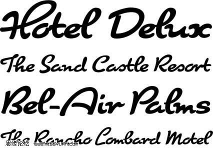 十款漂亮的英文笔画字体