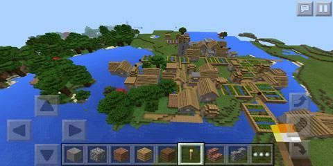 巨型村庄种子_我的世界手机版大型村庄种子