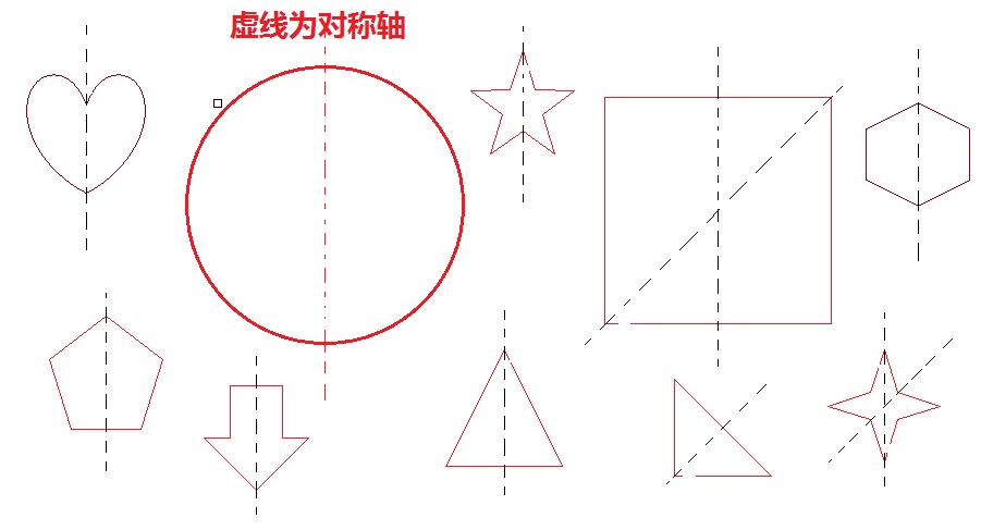 那些图案是轴对称呢